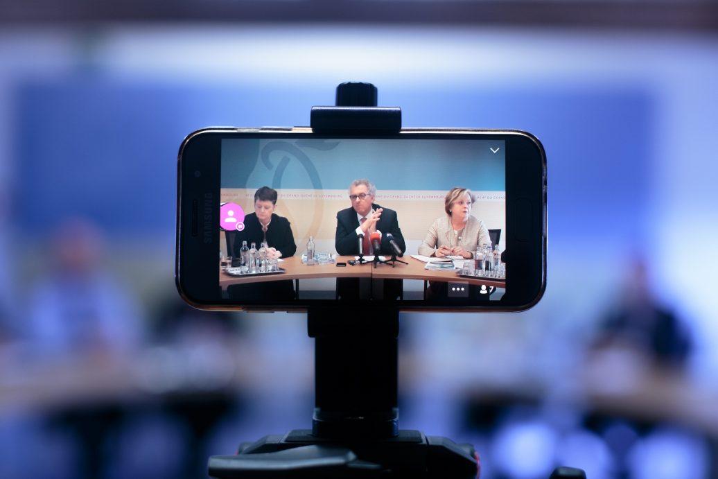 Pressekonferenz von Finanzminister Gramegna