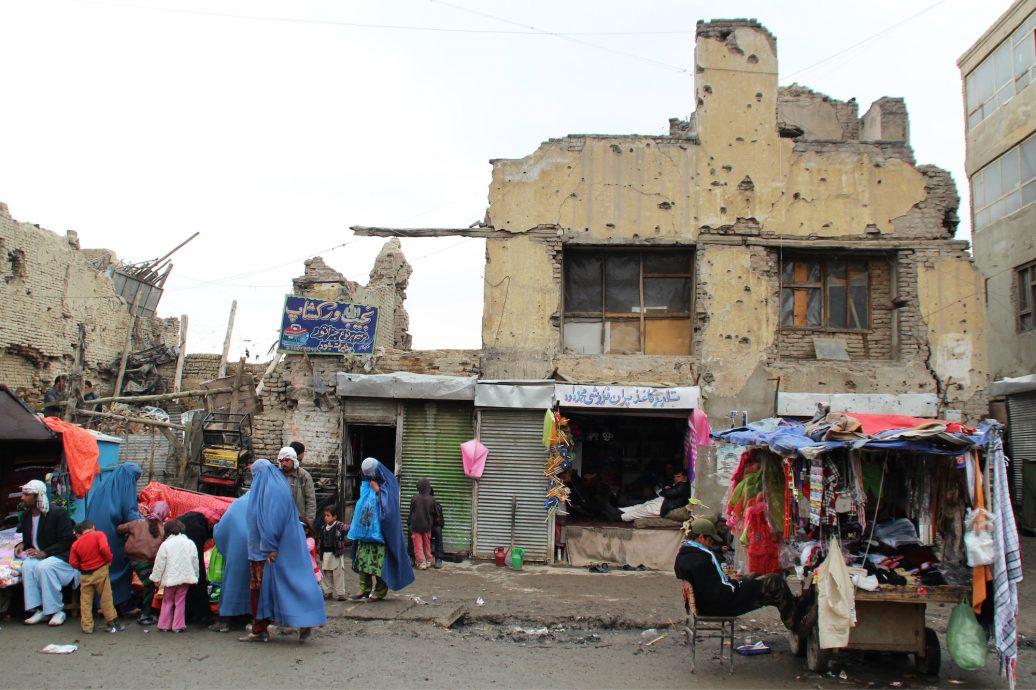 In der Altstadt von Kabul sind die Spuren des Bürgerkriegs in den neunziger Jahren bis heute unübersehbar.