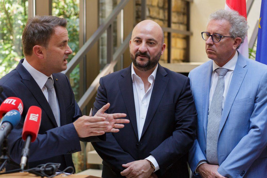 Xavier Bettel, Etienne Schneider und Pierre Gramegna